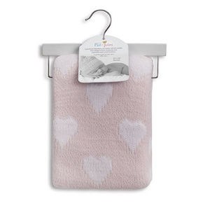Pink with White Hearts Cuddle Blankie